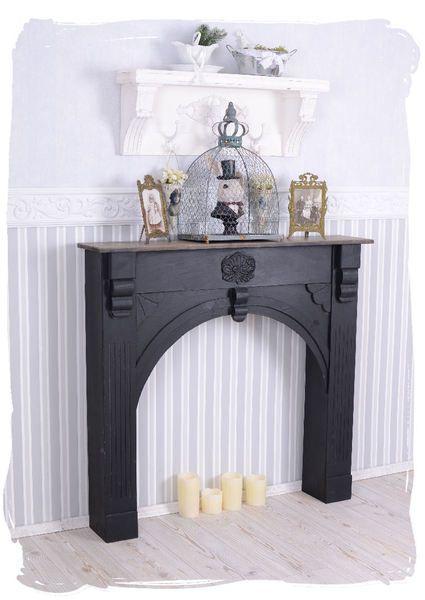 romantische kaminkonsole im shabby chic stil von palazzo. Black Bedroom Furniture Sets. Home Design Ideas