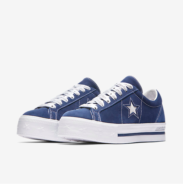 7ebdefffb0e079 CONVERSE X MADEME ONE STAR PLATFORM LOW TOP - BLUE WHITE WHITE ...