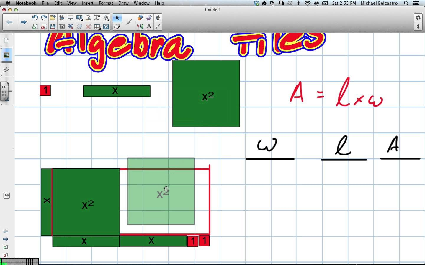Awesome Distributive Property With Algebra Tiles Tutorial