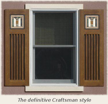 Craftsman shutters exterior google search curb appeal for Spanish style window shutters
