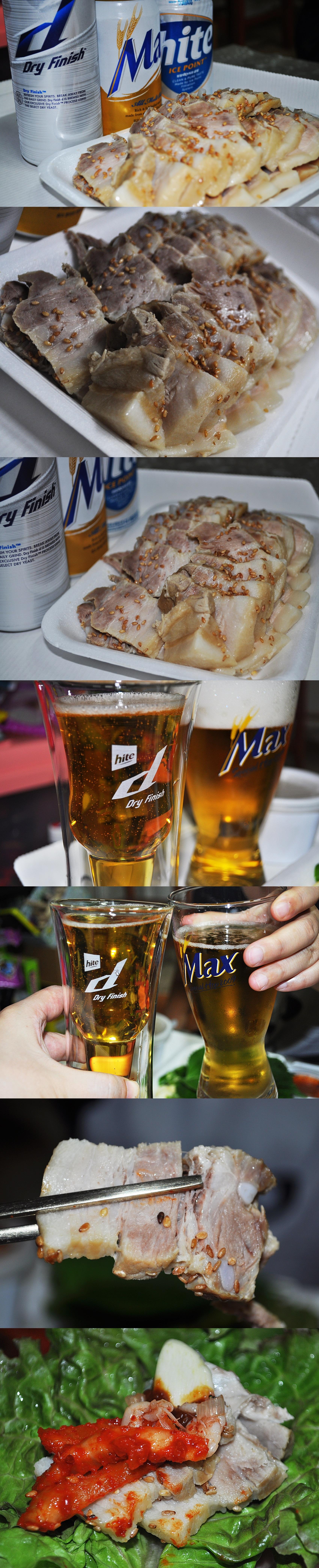 이번주는 야식 주간! 보쌈 정말 오랜만인듯! 맥주랑 은근히 어울림!