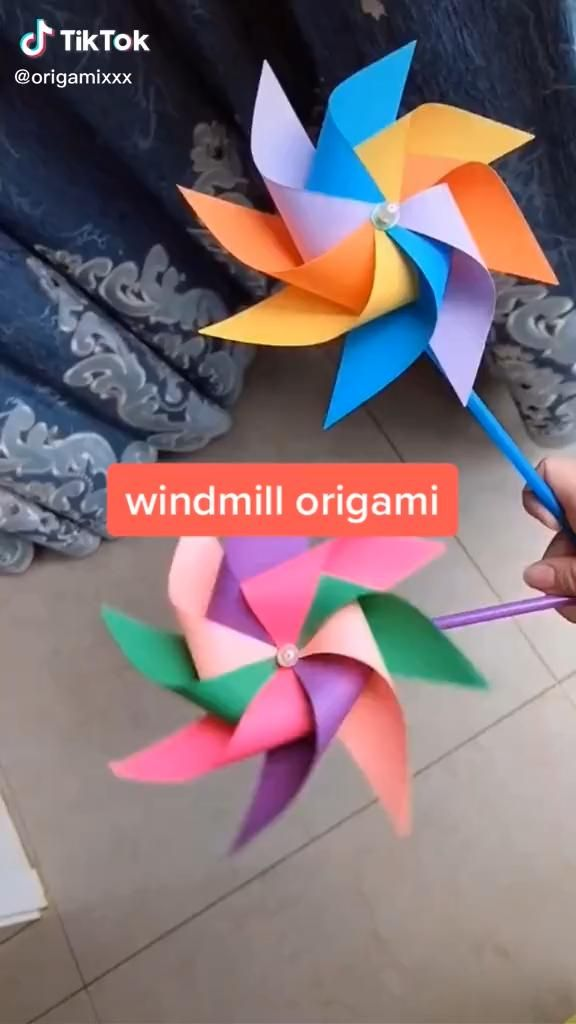Photo of Origami. Easy windmill.
