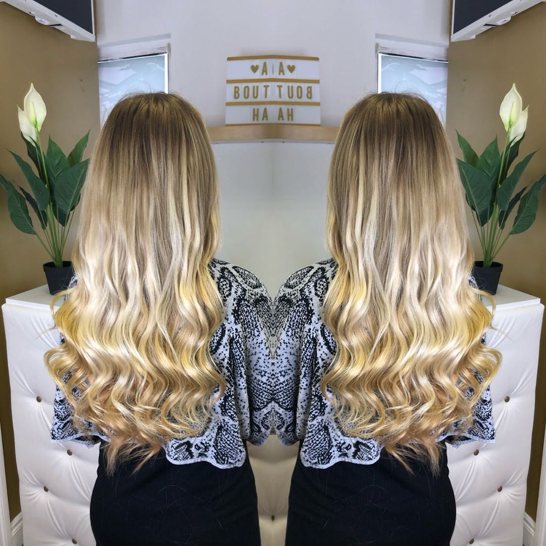 Full Head Of Fusionbonds Hairextensions Done Today For