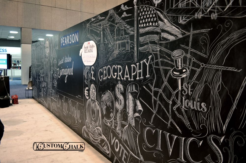 chalkboard mural - Google Search | Chalk Text Art | Pinterest ...