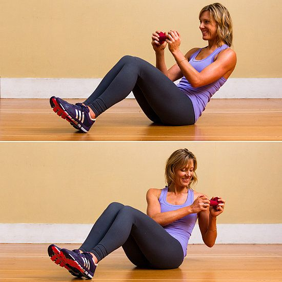 Ab Work: Seated Russian Twist | Russian twist, Ab work and Exercises