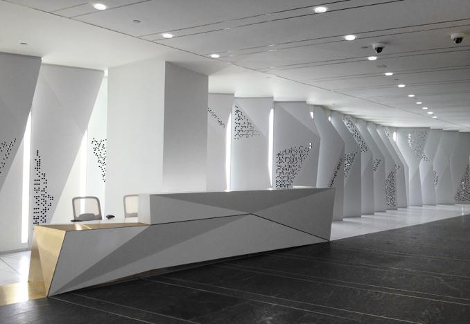 Google NY Headquarters Lobby, design by HLW