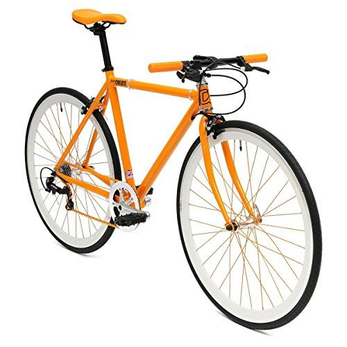 Fixie Bicycle 52cm Light Aluminum Frame 8 Speed Road Bike Gear