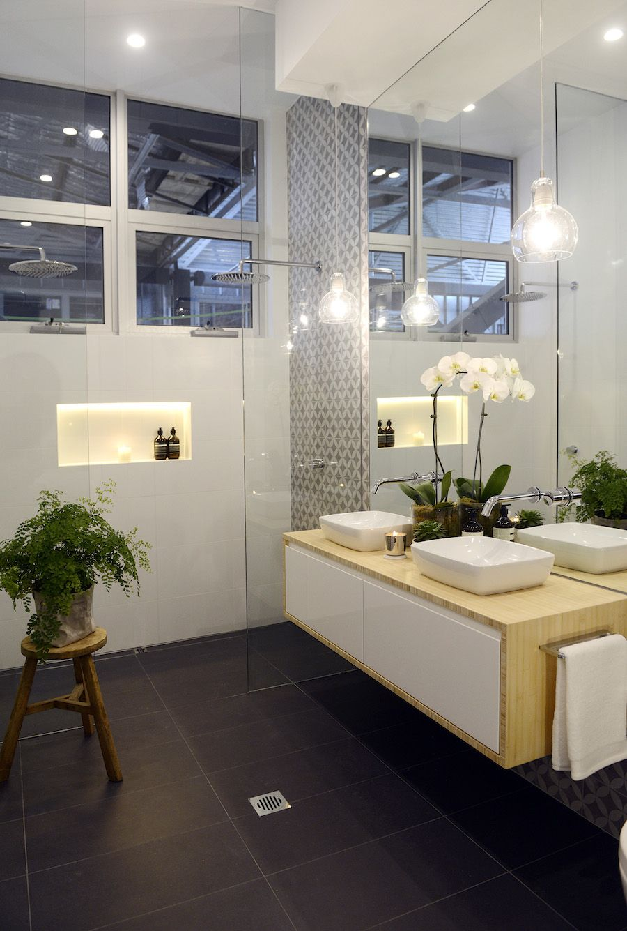 Bathroom Ideas The Block the block glasshouse: apartment 6 week 1 | timber vanity