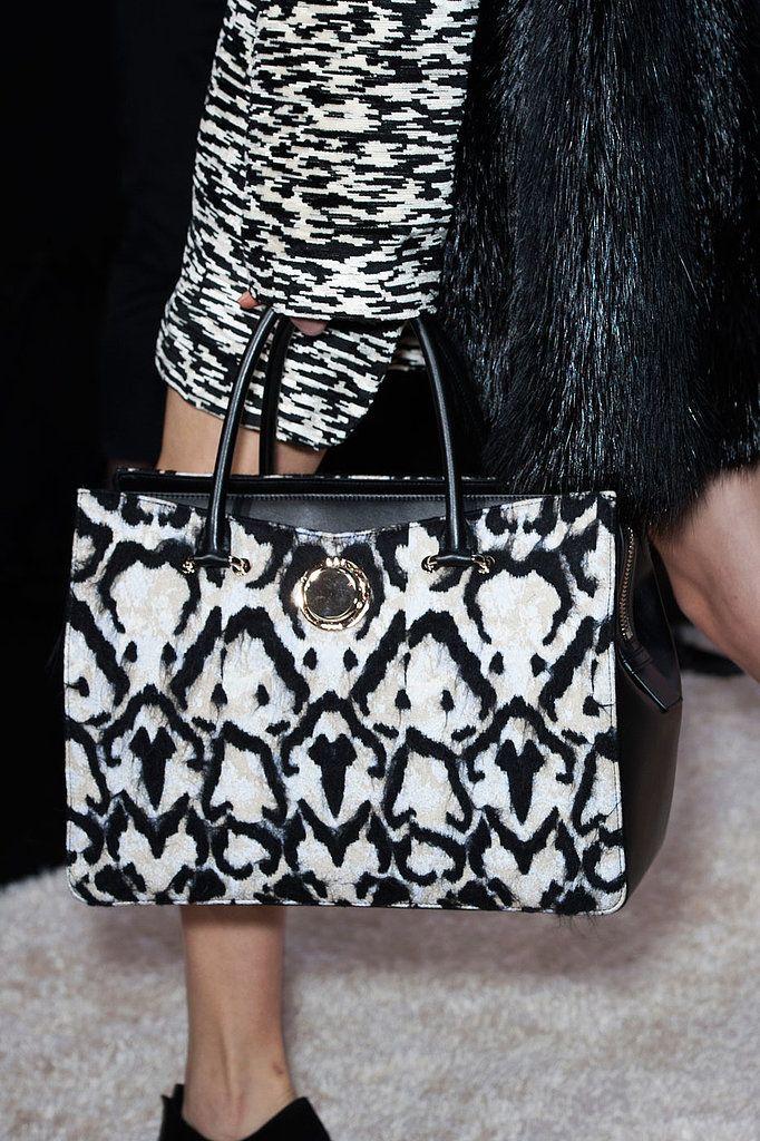Black and white at Giambattista Valli Fall 2014 - Best Runway Bags Paris Fashion Week Bags #PFW