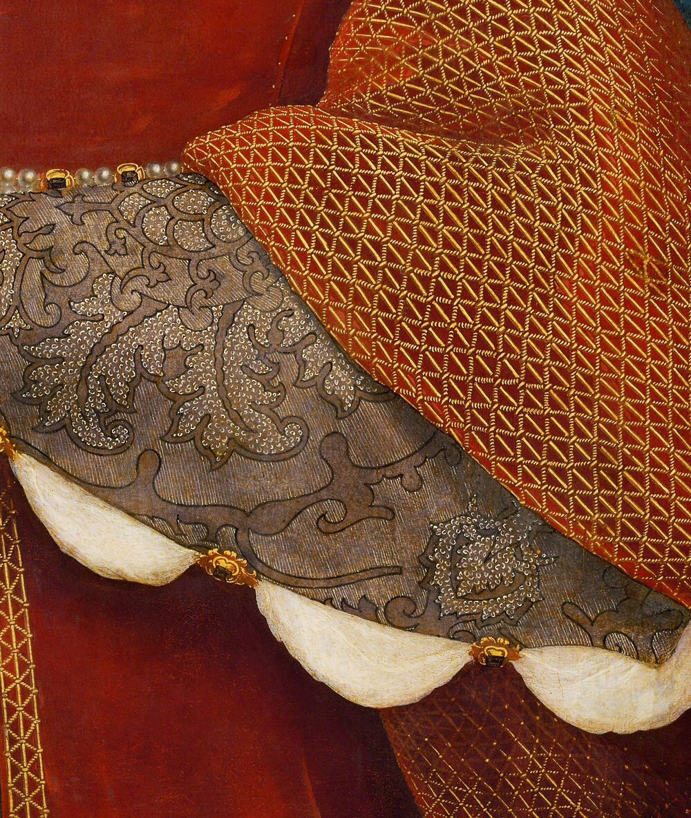 Hans Holbein the younger - portrait of Jane Seymour Queen of England 1536 - Detail
