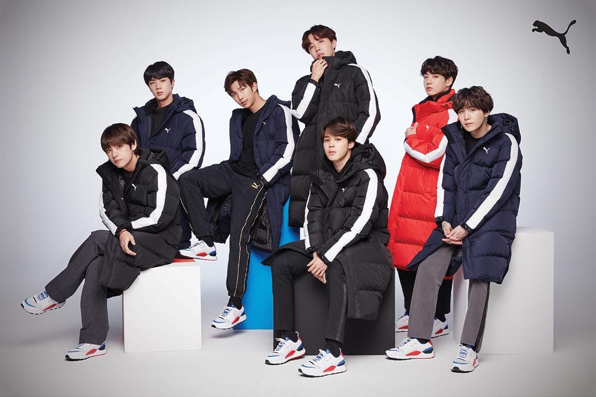 BTS x PUMA -> PUMA Basket made by BTS (Winter Collection ...