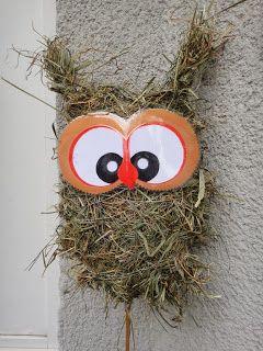 Kreatives Zum Nachmachen Eule Und Drachen Aus Heu Herbstdeko Basteln Weihnachten Selber Basteln Kreativ