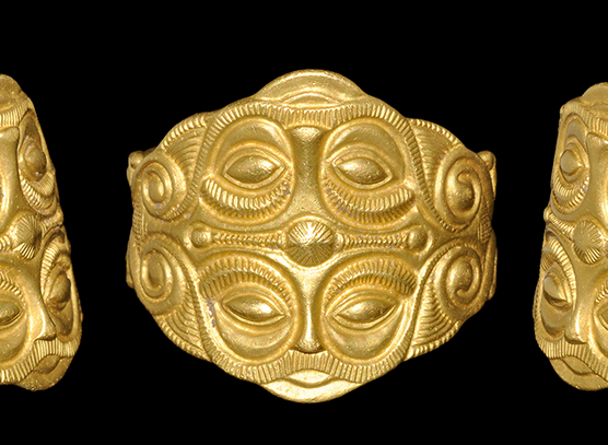 Celtic Gold Ring With Mask Motif 5th Century BC ANCIENT JEWELRY