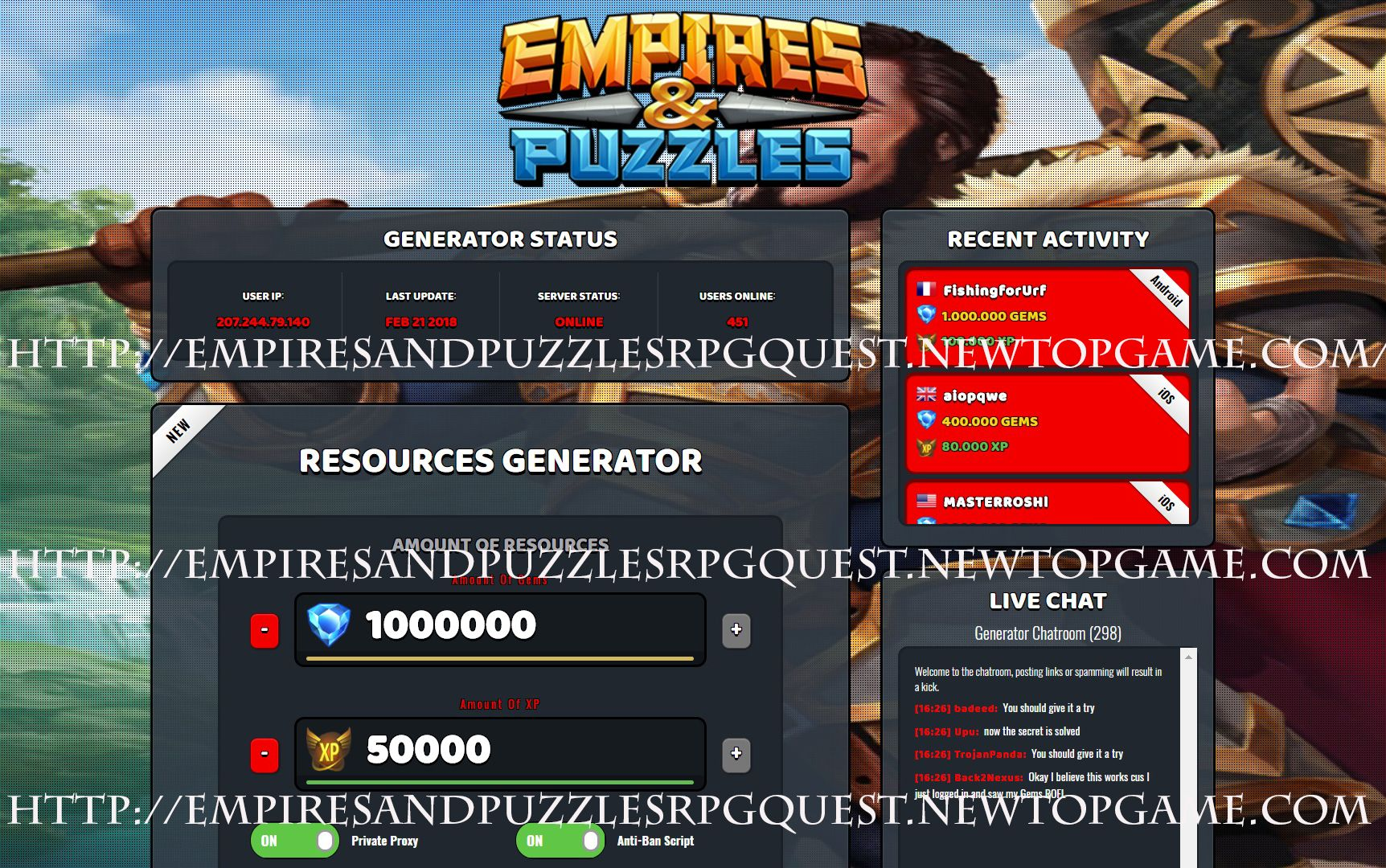 Empires And Puzzles Hack Gems Xp Working Online Hack Generator No Survey Hacks Empire Online Work