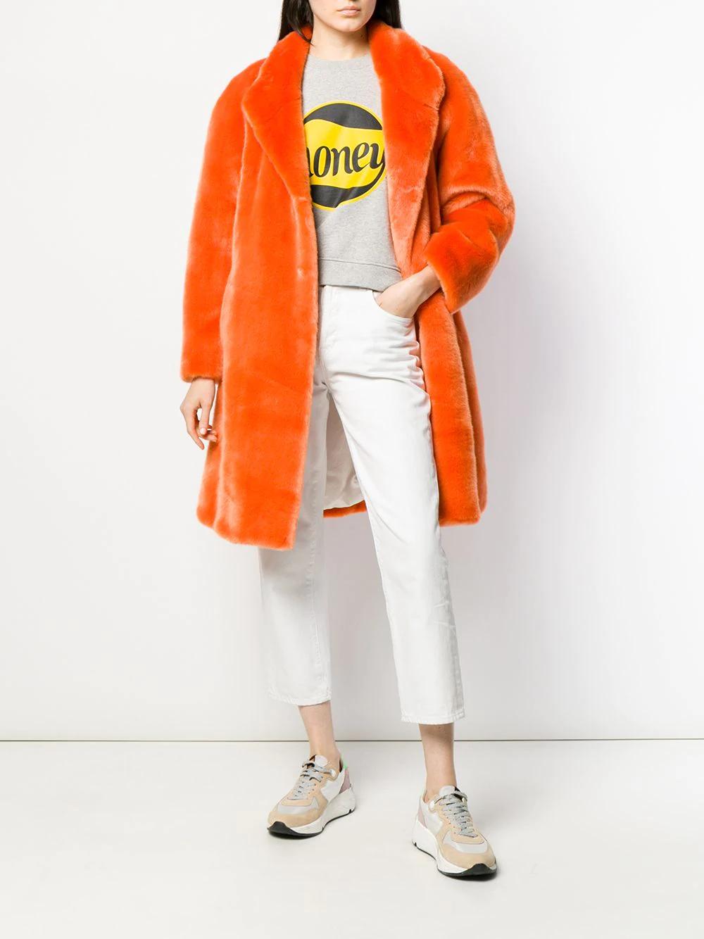 La Seine & Moi Maya Coat MAYAFW19 Orange   Farfetch