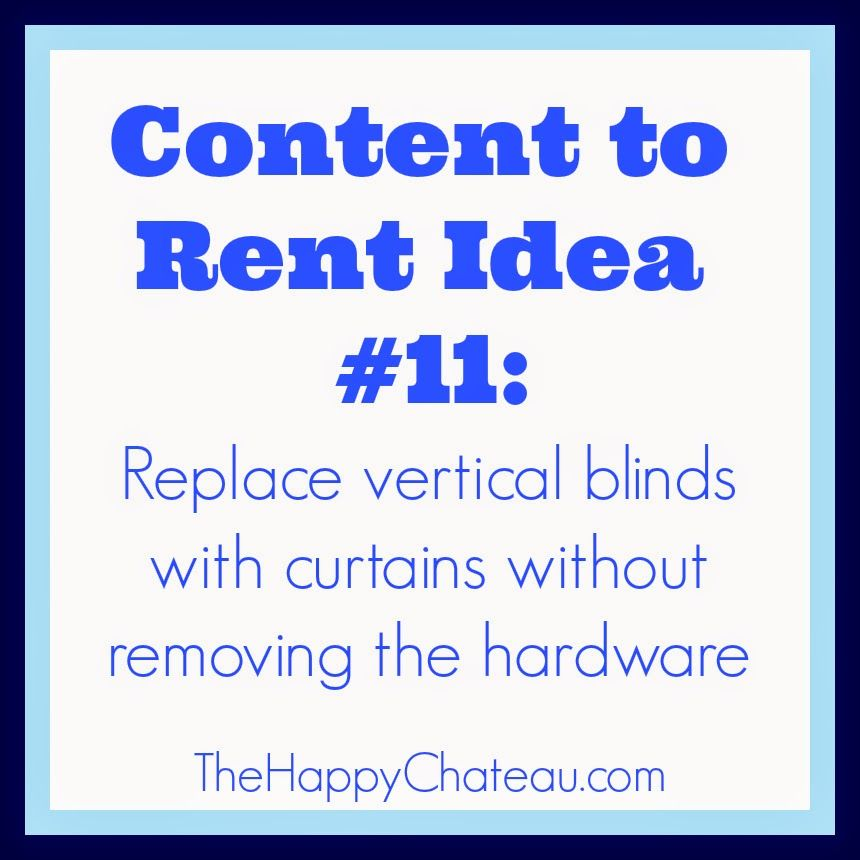 The Happy Chateau Replace Vertical Blinds with Curtains
