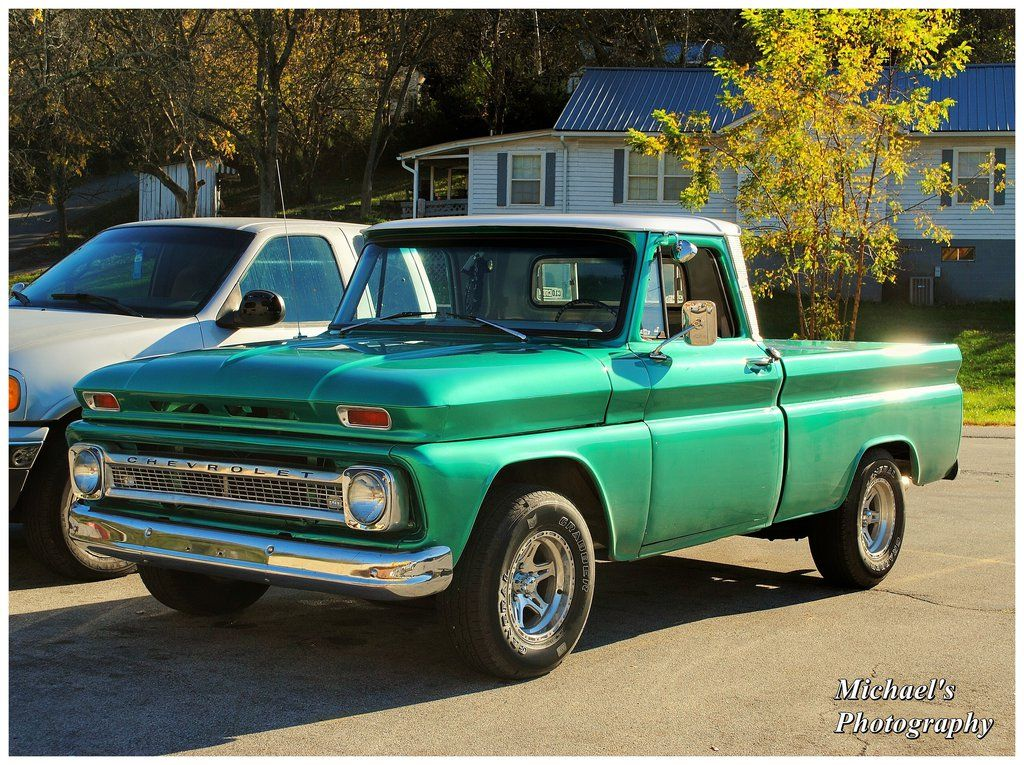 A Cool Green 1966 Chevy Truck By Theman268 On Deviantart With