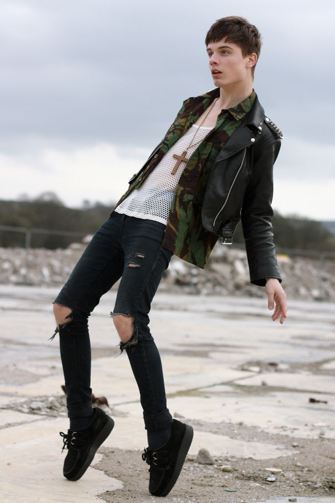 Ripped skinny jeans | Menu0026#39;s Look Book | Pinterest | Ripped skinny jeans