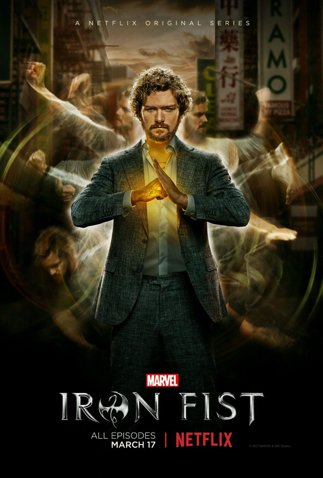 10 9 Iron Fist Finn Jones 2017 Netflix Marvel Tv Series Poster