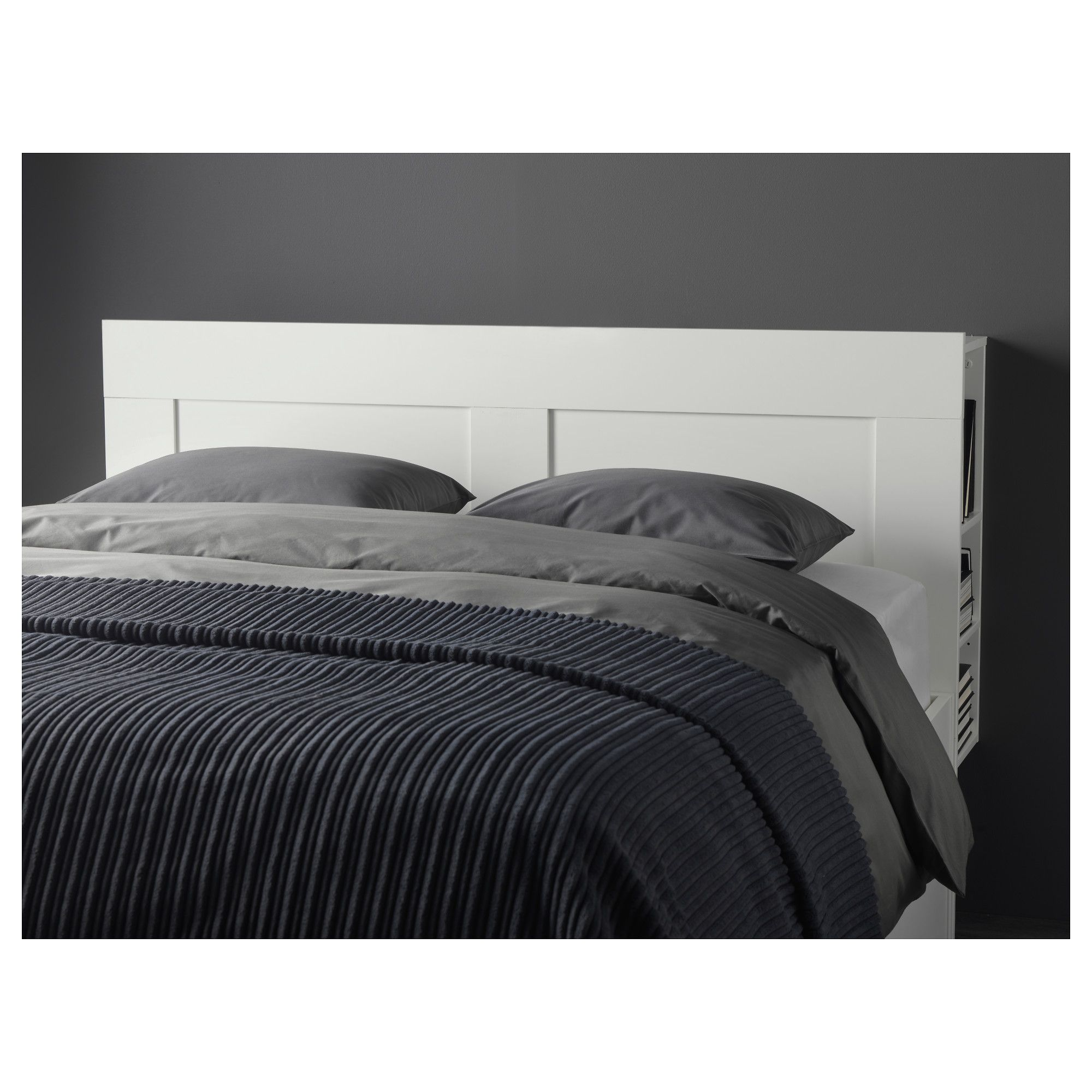IKEA BRIMNES Headboard with storage compartment white