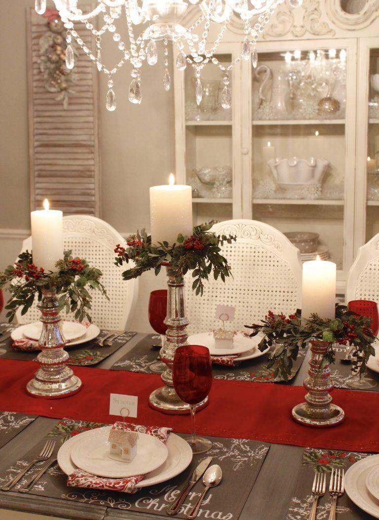 Seven Gorgeous Christmas Tablescape Ideas Christmas Table Decorations Red Christmas Decor White Christmas Decor