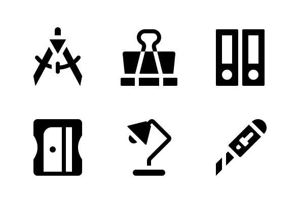 Stationery Jumpicon Glyph Icons By Ayub Irawan Glyph Icon Glyphs Best Icons