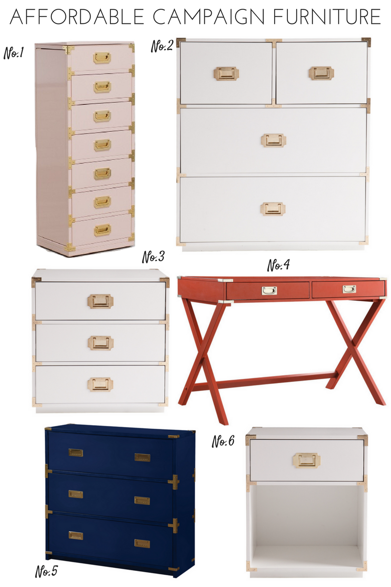 Affordable campaign furniture round up