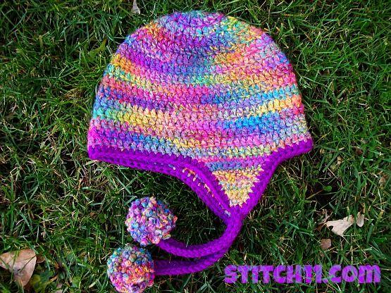 Q rizado ~ orejeras sombrero - Stitch11 | NOTAS MUSICALES | Pinterest