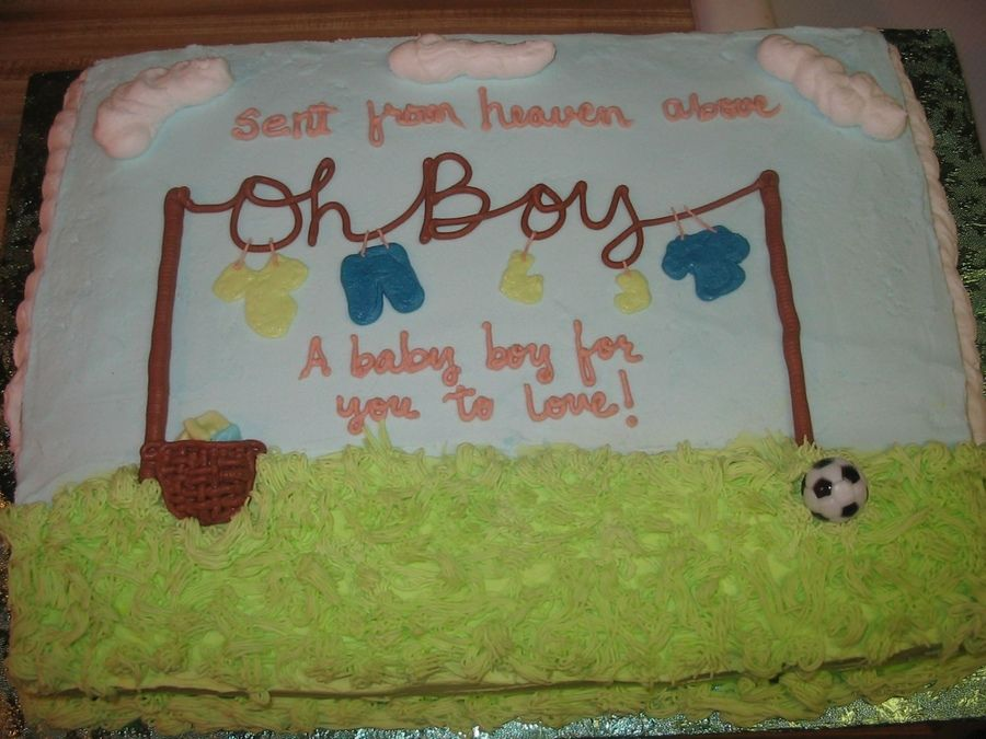 baby shower sheet cakes   boy half sheet cake i decided to try, Baby shower invitation
