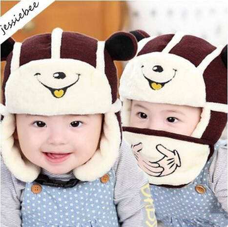 KIDS BOYS GIRLS WINTER HATS KNITTED CAT FACE MONKEY FACE FASHION BEANIE HAT