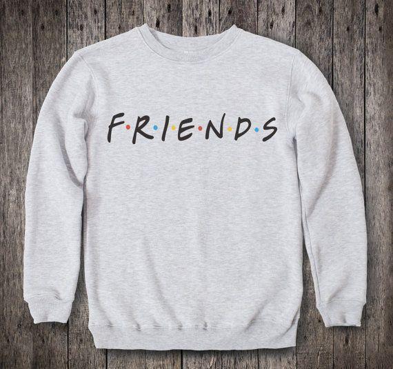 Friends TV Show Clothing Friends TV Show Sweatshirt Friends TV Show Sweater  Friends tv Show Pullover Womens Jumper Mens Raglan tv Series 029 dc07aa1d8