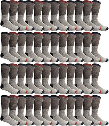 New Yacht Smith Mens Womens Kids Thermal Socks Bulk Pack Thick Warm Winter Boot Extreme Weather Socks by SOCKSNBULK Mens Winter clothing 816topnewshop