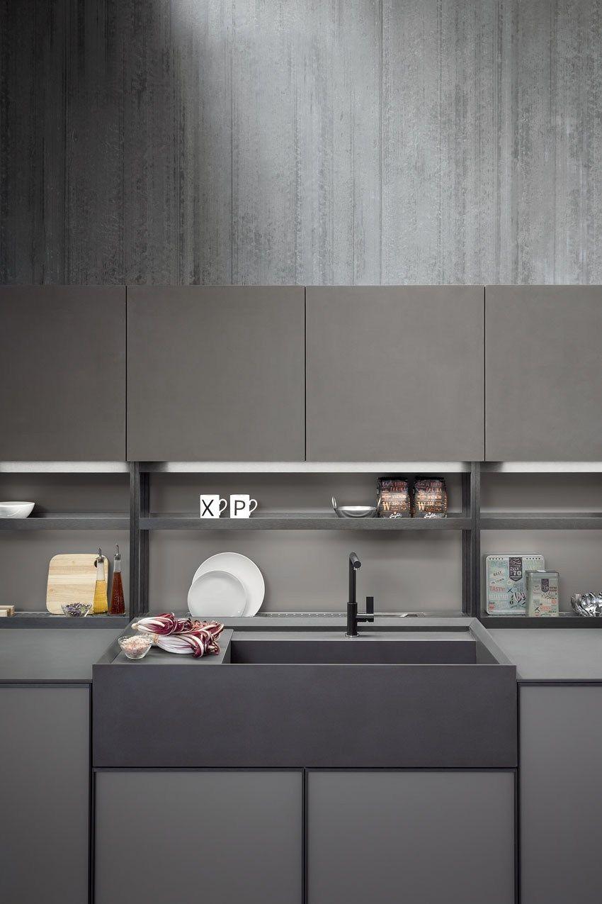 Küche Innenräume Lineare Einbauküche von Zampieri ist Stil ...