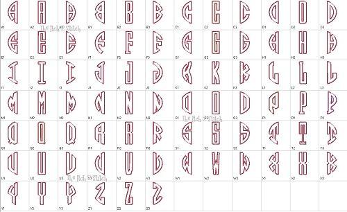 Circle Monogram Font Free Download