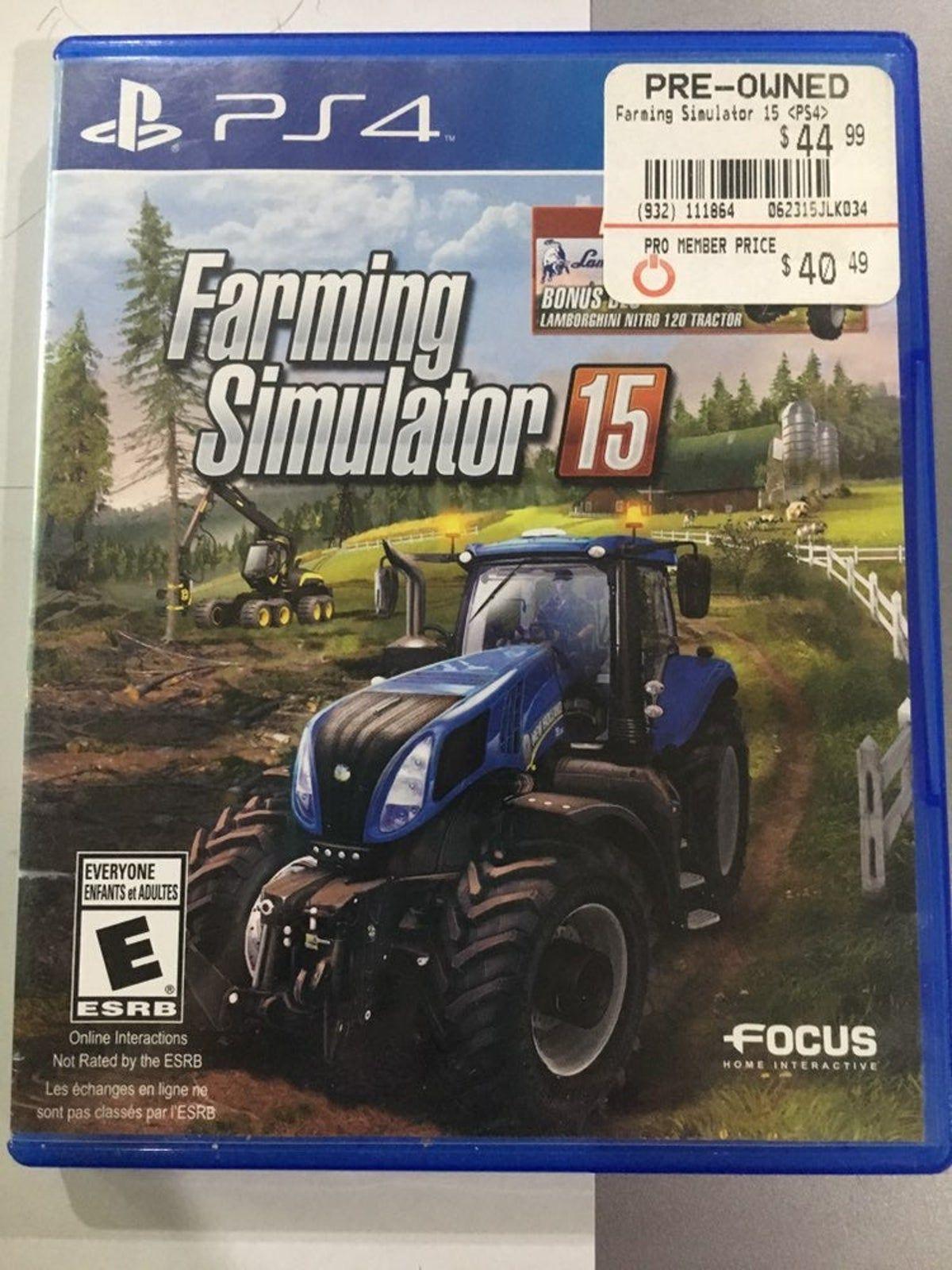 Ps4 Farming Simulator 15 Farming Simulator Farming Simulator 2015 Simulation