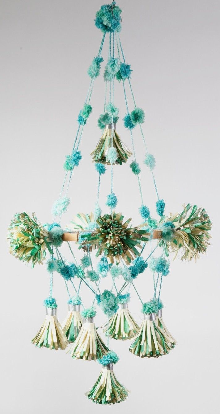 Parcel: European Styled Paper Pouf Pom Pom Chandeliers, Available ... for Paper Chandelier Craft  70ref