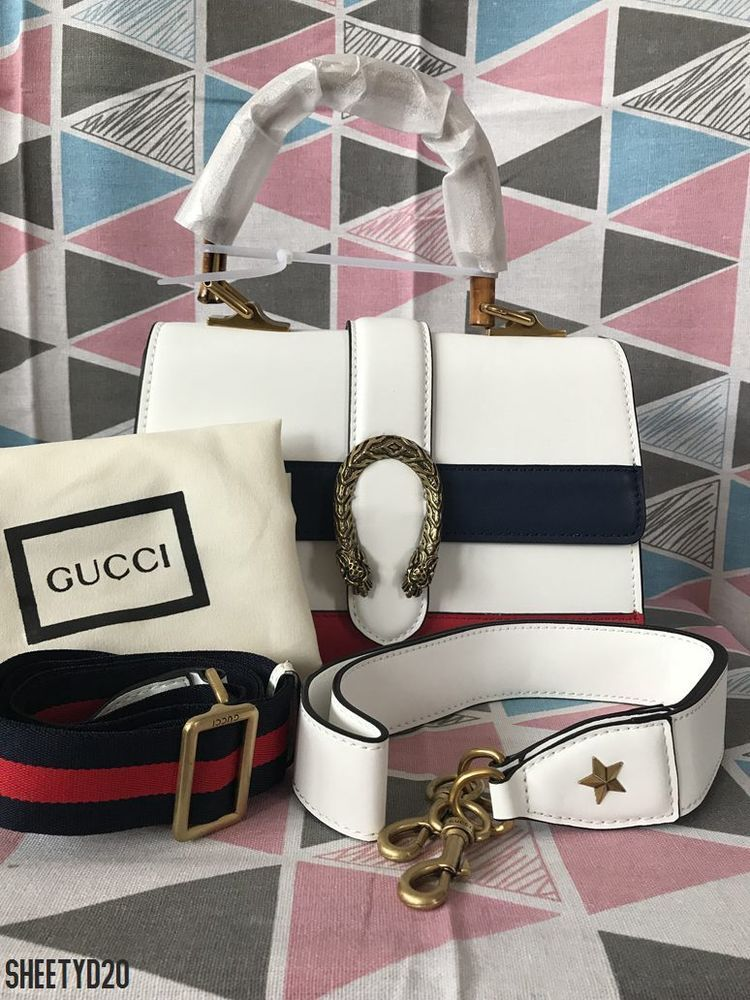 95f92dd774 Gucci-Dionysus-Leather-Top-Handle-Bag-White Blue Red-448075-  fashion   clothing  shoes  accessories  womensbagshandbags (ebay link)