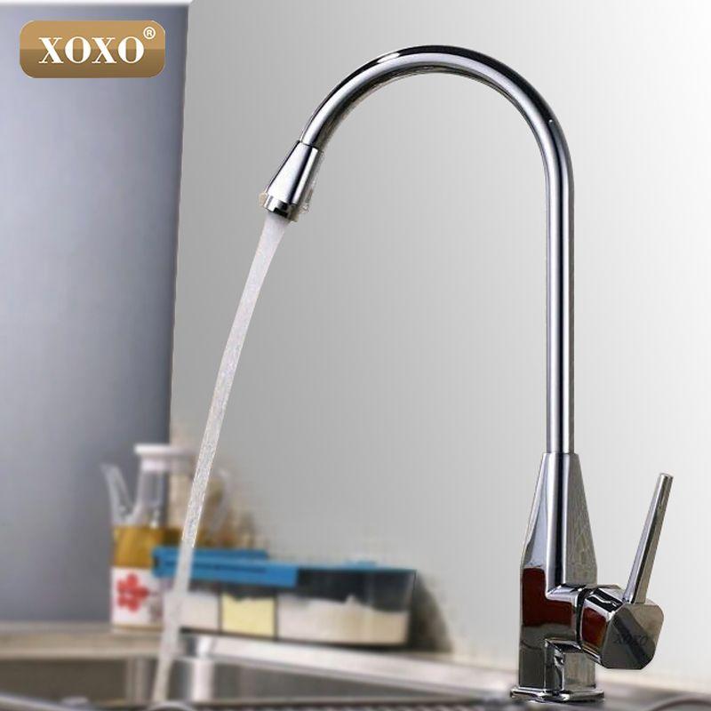 xoxo single hole open kitchen faucet