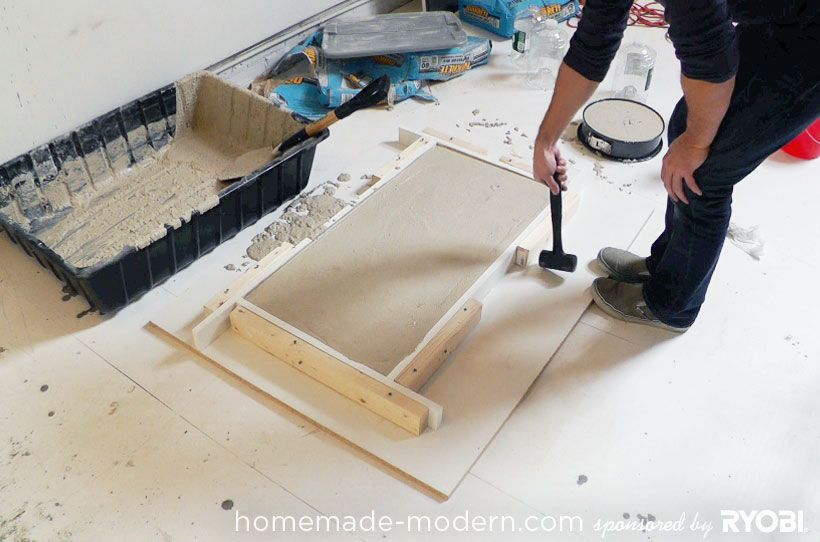 HomeMade Modern DIY EP15 Concrete + Wood Coffee Table Step 6
