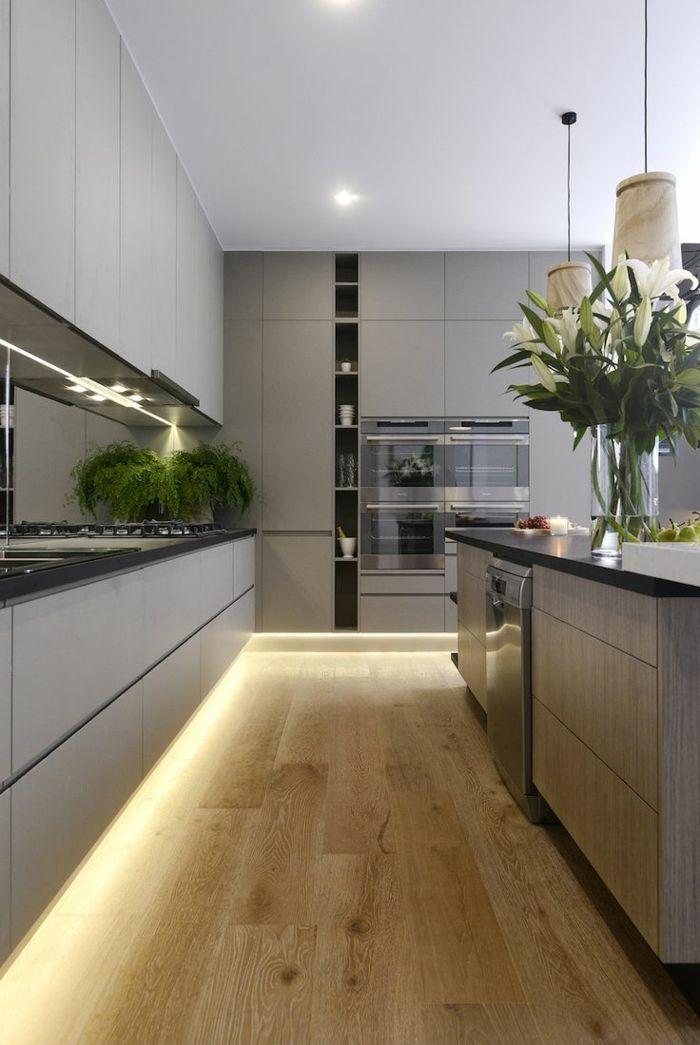indirekte beleuchtung in der modernen küche Deco Pinterest - sockelleisten für küchen