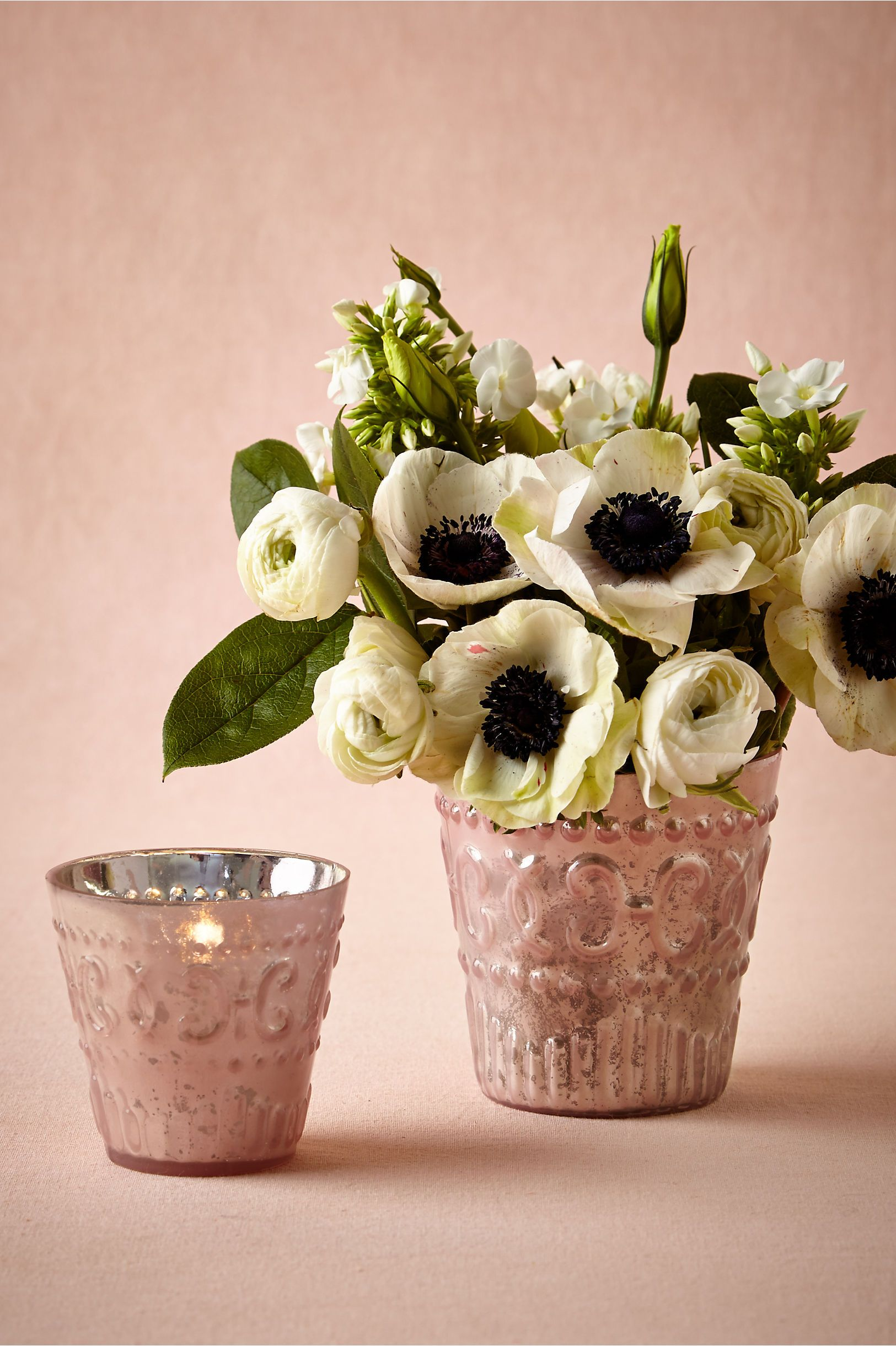 1920s wedding decoration ideas  Painted Mercury Vessels from BHLDN  s wedding decor  Pinterest