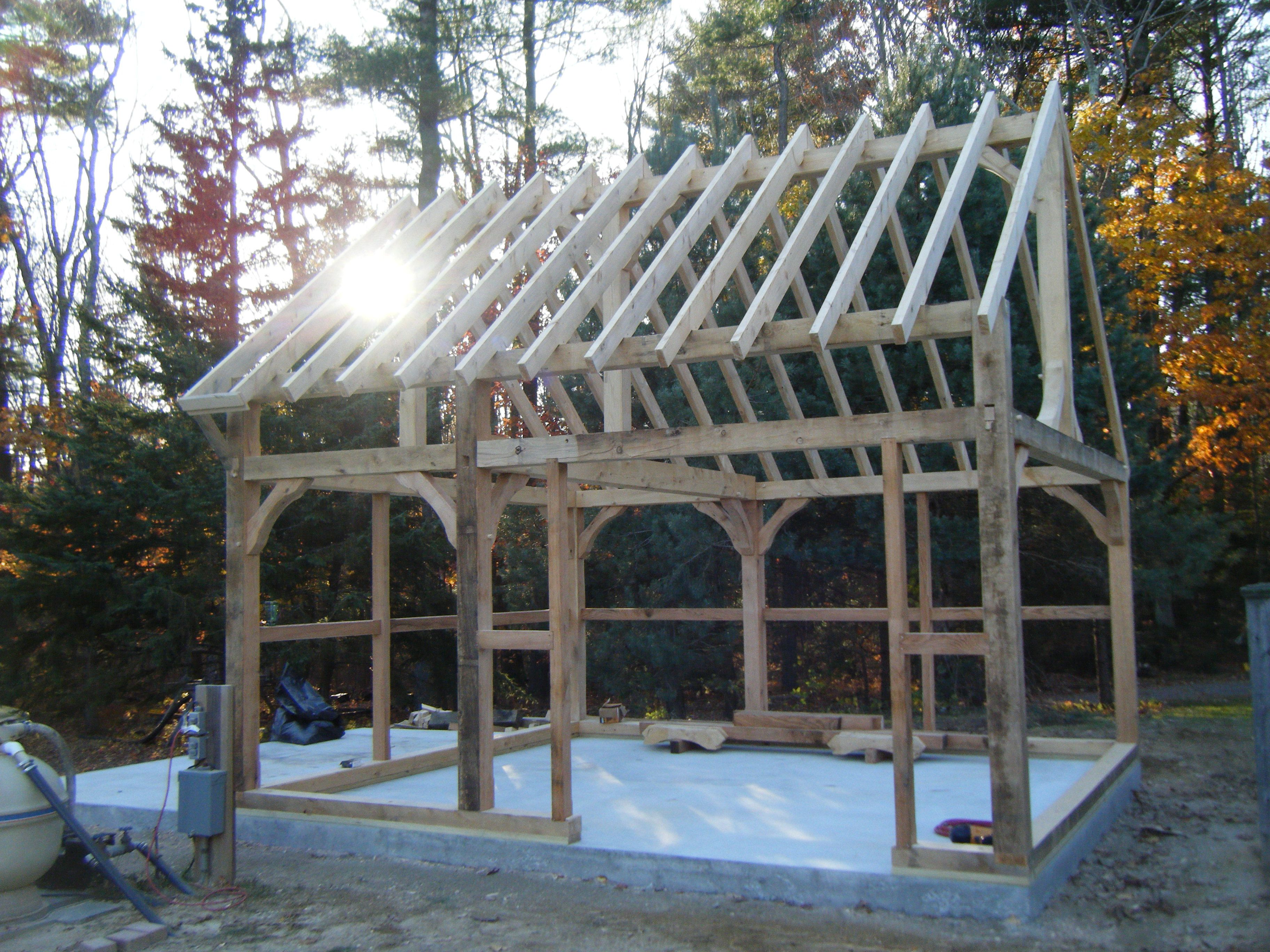 Timberframe Shed Timber Frame Barre Mass Pool And