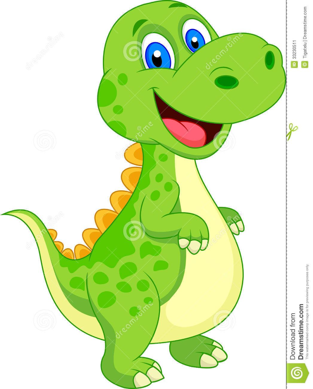 cute dinosaur cartoon stock image image 33230511 [ 1047 x 1300 Pixel ]