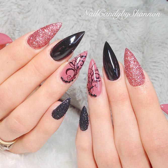 Long Nail Designs, Nail Art Designs, Beautiful Nail Designs, Gorgeous Nails,  Pretty - Best Stiletto Nails Designs, Ideas, Tips, For You More Nails