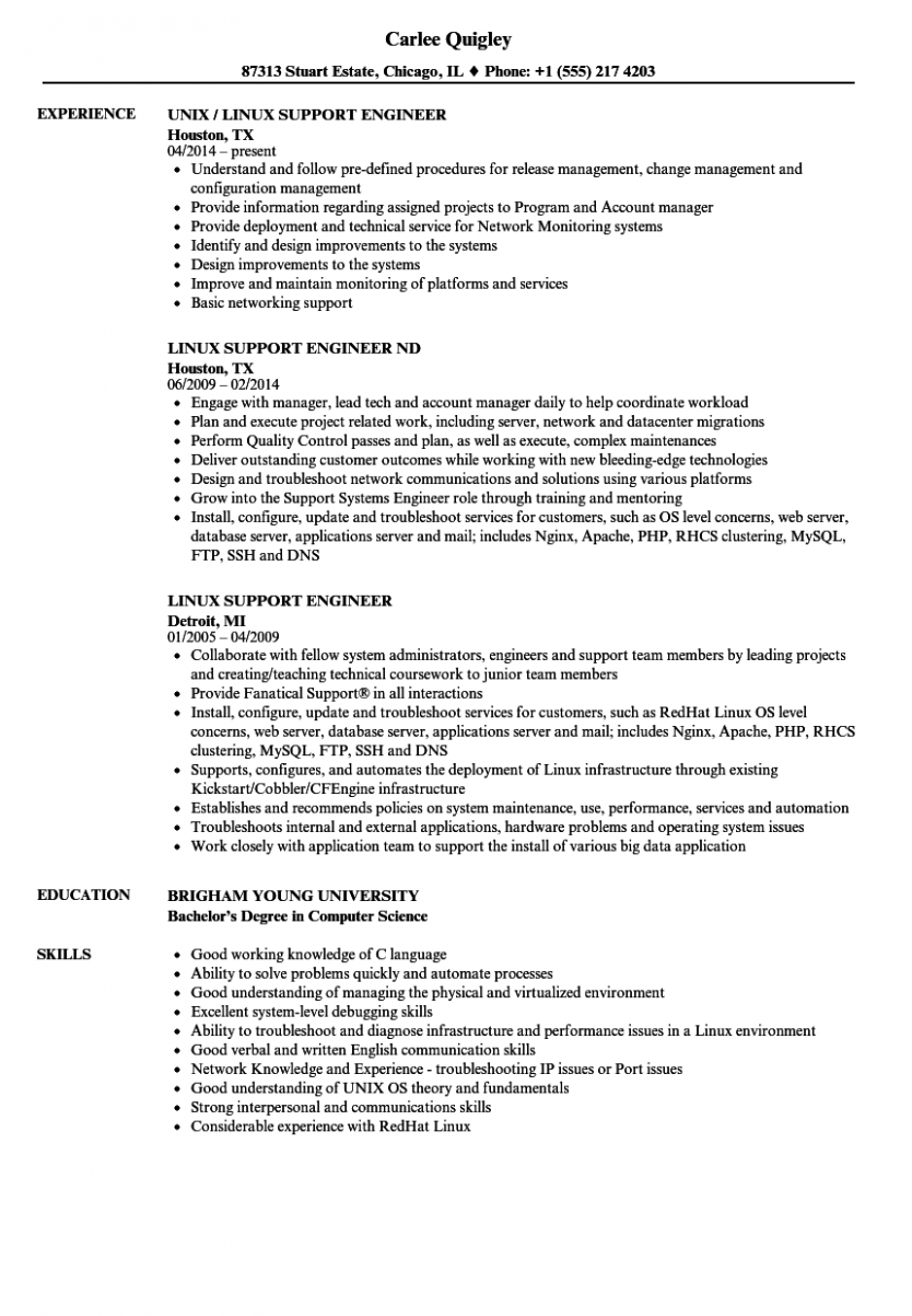 10 Primary Linux Resume In 2020 Resume Job Resume Template Resume Design Template