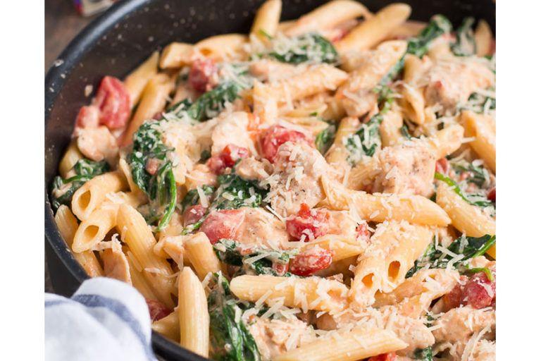 creamy-garlic-chicken-spinach-tomatoes #creamygarlicchicken