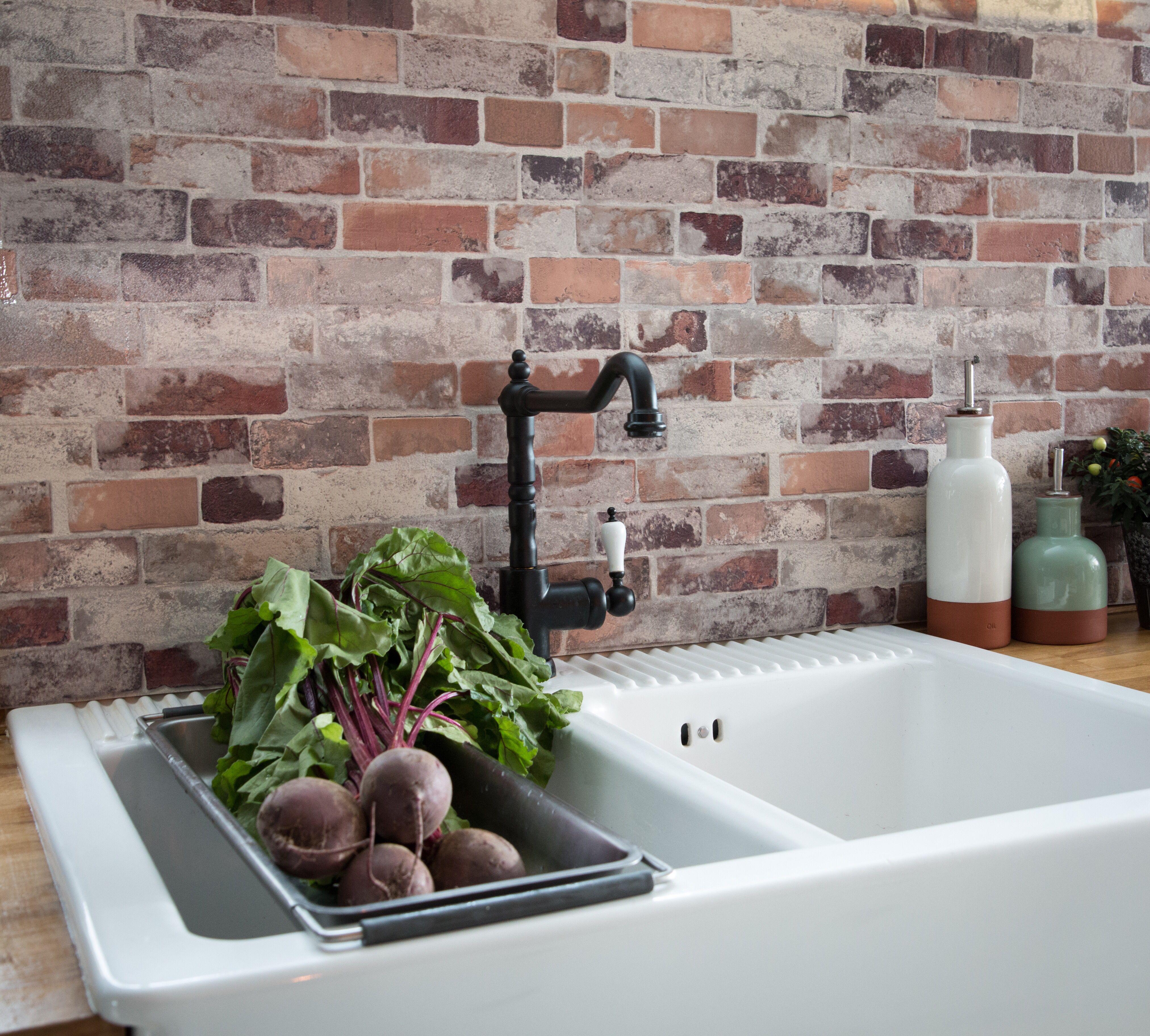67 5cm X 4m D C Wall Vintage Brick Tisa 3d Splashback Tile