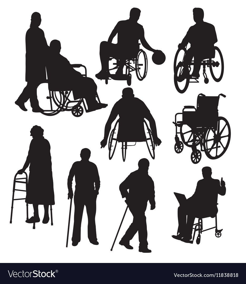 Handicapped And Wheelchair Silhouettes Royalty Free Vector Sponsored Silhouettes Wheelchair Handicapped Silhouette Vector Vector Free Sheep Silhouette