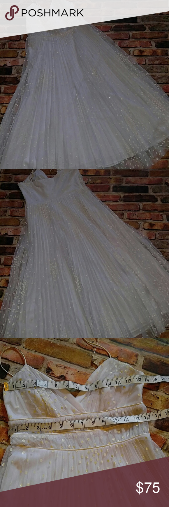 Betsey johnson prom dress white sz p in my posh picks