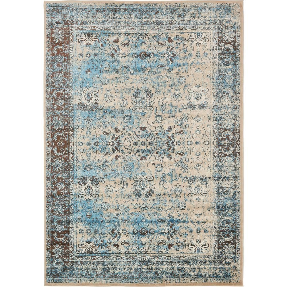 Istanbul Blue 7 ft. x 10 ft. Area Rug